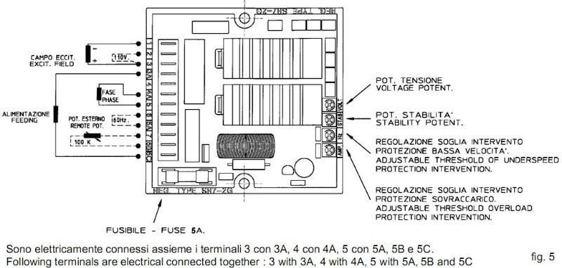 Sr7 Avr Wiring Diagram 2005 Pt Cruiser Meccalte Generator - Manual