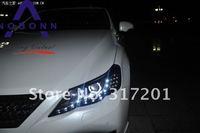 бесплатная доставка! 2011 ~ Тойота reiz фар с би-ксенон - objective проектор, Shark span, жк-CCFL для, из светодиодов линию; вариант балласт; реиз титан фары