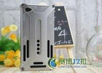 розничная упаковка серии люкс арахнофобия прочный металлический корпус чехол для iPhone 4 и 4S 4 г бесплатная доставка
