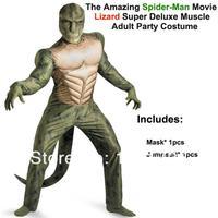 удивительный человек паук фильм - ящерица делюкс мышцы костюм талисмана косплей карнавал хэллоуин костюм для взрослого-jcdm0039