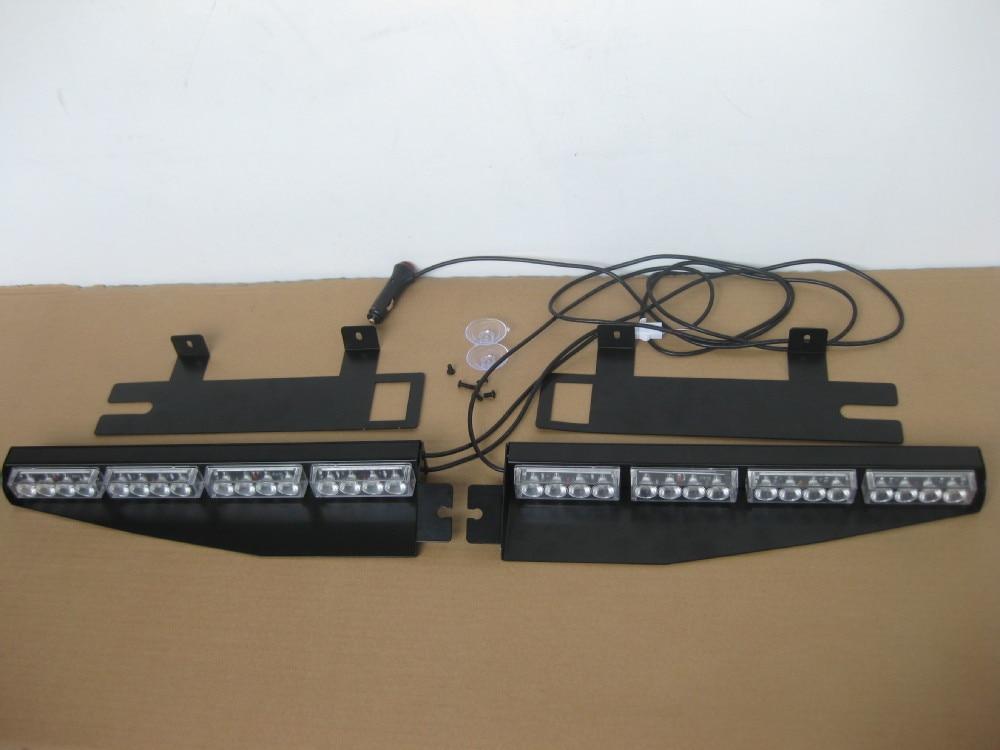 Visor lightbar emergency warning strobe split mount deck dash led img3714 mozeypictures Image collections