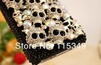 бесплатная доставка / новинка шикарный кристалл GR rustle твердый фиолетовый чехол для для iPhone / 4S с возгласами мода горячая распродажа рождественский подарок
