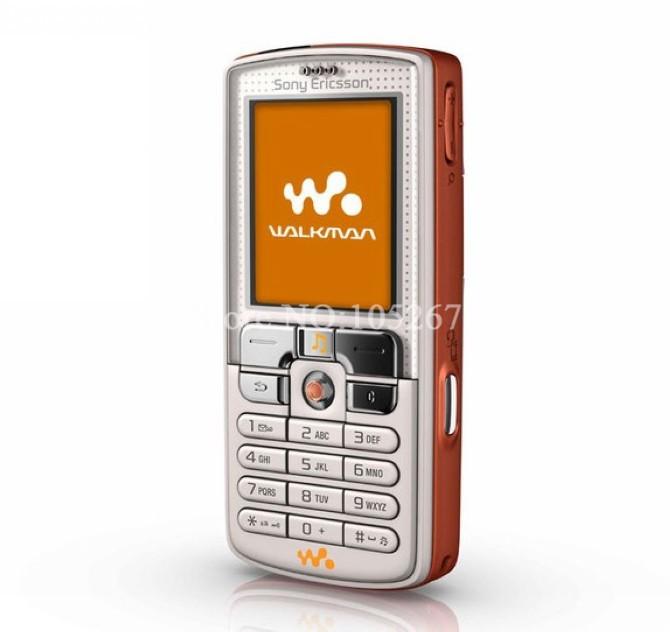 Refurbished phone W800i Original Sony Ericsson w800 Mobile Phone 2.0MP Unlocked Free shipping white with orange 2