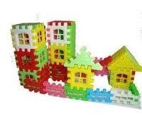 40 шт. / комплект младенческой красочные пластик дом строительные блоки игрушки