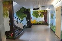 красивый цветок гнездо дизайн / декоративных обоев ROC / фотообоями для гостиной