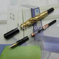 расширенный авторучка jinhao китайский дракон золотой тяжелый подарок ручка с очередной подарочной коробке j1174