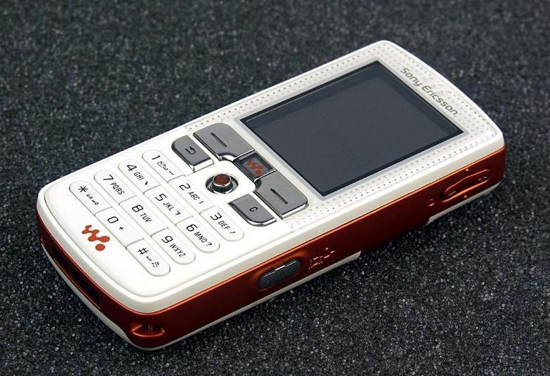 Refurbished phone W800i Original Sony Ericsson w800 Mobile Phone 2.0MP Unlocked Free shipping white with orange 5