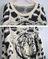ei2026 западный стиль фантазии тигр спекл-исключать мохер свитер