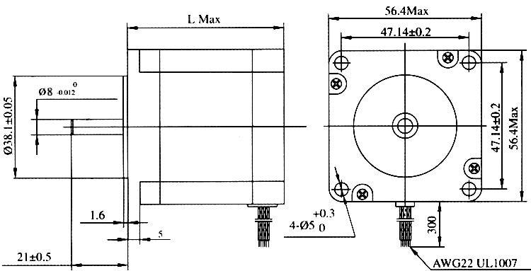 【В Росси】Nema23 112mm Stepper Motor 425Oz-in CNC Dual