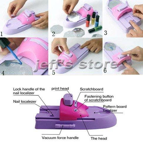 Nail printer diy nail art stamping printing machine polish in nail item features prinsesfo Choice Image