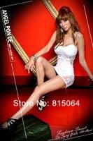 женщин горячий уплотнение ночных клуб Крюгер платье Моне двор платье черный белый цвет бесплатная доставка