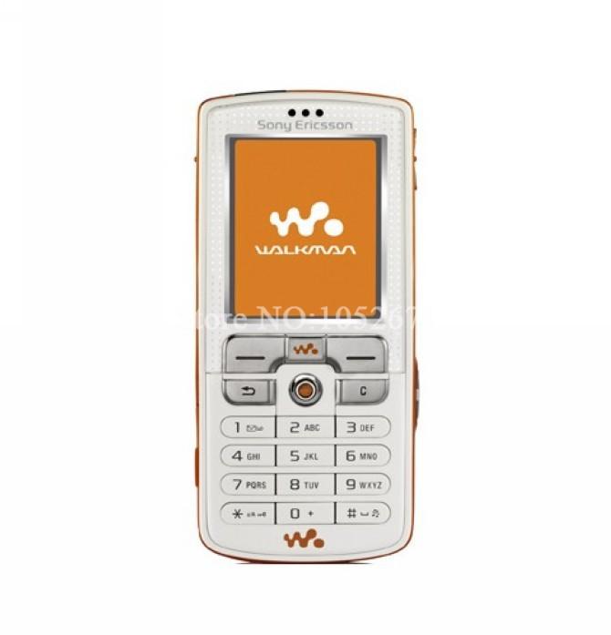 Refurbished phone W800i Original Sony Ericsson w800 Mobile Phone 2.0MP Unlocked Free shipping white with orange 1