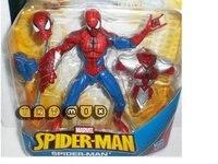бесплатная доставка, spideman, действие игрушки chinldren игрушка, мультфильм комические герои человек - паук