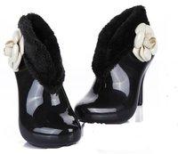 водонепроницаемый дождь ботинки и Gel ботинки для женщин с с группа тонкий кабель Hole дождь обувь 2 цвет