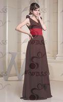 настоящее фото новинка с V - образным вырезом платье подружки невесты с поясом