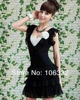 платье шифон, s-хl женское поставляют черный