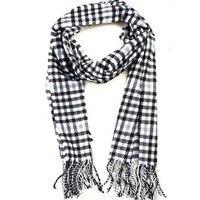 80028 бесплатная доставка женщин мужская мода шарф длинный хлопок черный и белый зима начать пост LED designers шарфы оптовая продажа