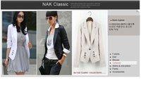 новый, элегантный модный дизайн одна кнопка пр стиль с длинным рукавом женская куртка пальто, дамы пиджак