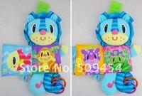 детские успокаивающий игрушка плюшевые мультфильм лев анти-погремушка ткань книга висит перевозки кольцо бумаги кукольный детские игрушки подарок 1 шт