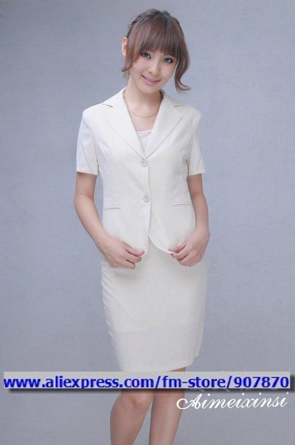 White Women S Dress Suit Woman Suit Ladies Office Uniforms Women