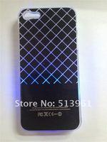 чехол, красочные изменение логотипа аккумулятор обнаружение светодиодная вспышка лёгкие чехол для айфона 5 стили