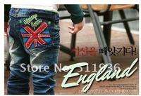 новое постулат! мальчиков и девочек джинсы, письмо слова прямой ядер стиль дети джинсы с, 5 шт./лот бесплатная доставка