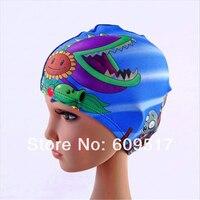 бесплатная доставка горячая распродажа мода дети привет котенок шапочка для плавания, мальчик и девушки шляпа