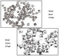 """новый 100 шт. 10 мм / 12 мм для DIY спайк заклепки сумка в стиле """"панк"""" ремень античная-серебро серебро бронза одежде 5376"""