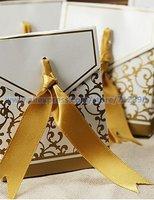 бесплатная доставка 50-Patch Convert годовщина свадьбы пользу коробки с золотая лента 60 шт. ну watering поставки украшения аксессуаров
