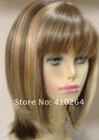 jewelry_wig $ бесплатная доставка костюм блондинка / коричневый микс среднего прямо здоровые волосы парики