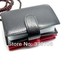 высокое качество из натуральной кожи визитная карточка кредитная карта чехол бумажник обложка для женщин протектор мужчины чемоданчик засов