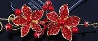 2 цветов кристалл горный хрусталь леди заколки свадебный hairwear соучастником