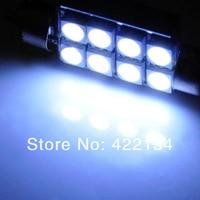 фестона 42 мм 4 вт 96lm 8-СМД 5050 из светодиодов белый автомобиль свет