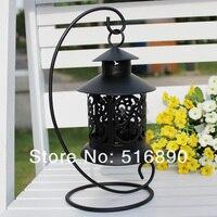 бесплатная доставка! в европейском стиле свадебного подарка утюг фонарь металл подсвечник дом или магазин украшения черный цвет