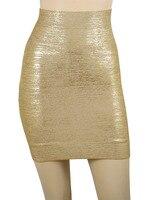 новинка в HL бинты короткая юбка серебро и золото сексуальная юбка
