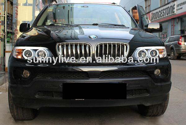 Aliexpresscom  Buy CCFL Angel Eyes Head Light for BMW X5 E53