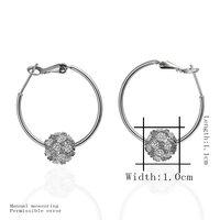 evtz18ker 18 к пост и Plate покрытие серьги-кольца для женщины белое золото серьги плакировкой ювелирные изделия