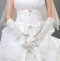 оптовая продажа атласа свадебные перчатки дамы кружево свадьба перчатки, 5 пар бесплатная доставка