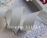 бесплатная доставка 1 ' / 25 мм молочно-белый сплошной цвет тканая лента 028