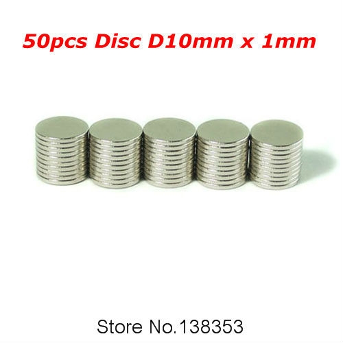 50pcs  10mm Disc Small Round NdFeB 1.5mm x Magnet Dia Neodymium Magnets