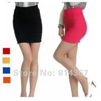 женская конвертировать цвет тонкий подходят обтяжку Stretch мини юбка 6 цвет бесплатная доставка ВФ-0040