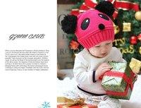 бесплатная доставка дети малыш панда стиль Скалли и шапки ручной работы вязания крючком шляпы дети зима теплые шапки