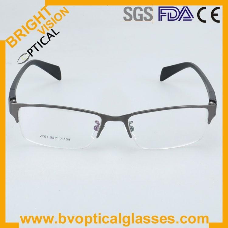 New model delicate half rim metal optical frames glasses2261hui-2
