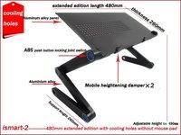 горячая! бесплатная доставка, новый портативный ноутбук стенд, для iPad стол, складной стол ноутбук с отверстия ipaiter-2