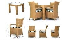 dyds-d540d, сад столовая комплект, открытый столовая комплект, патио столовая комплект, ротанга стул, плетеное кресло и стол