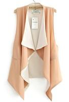 з . а . новая женская пальто верхняя одежда 3 цветов контраст цвета Regular Pool drain стоит повар Gel ladyies пр