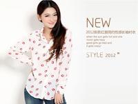 2103 новый новый стиль женщин с длинным рукавом нагрудные рубашка / блузка