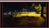 новый 5-светодиодный велосипед лазер хвост LAN для на открытом воздухе велоспорт отдых на природе
