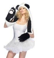 приливная волна из мужчин женщин должны принимать меховая шапка теплая шапка животных шляпа панда лапа