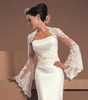 бесплатная доставка невесты платок с длинными рукавами кружево автомобиль кости цветы свадебный платок болеро куртки / органза пиджак люкс